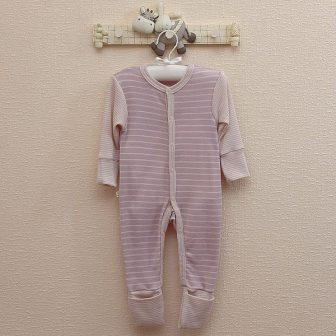 Pyjamas rosa/vit
