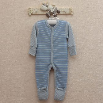 Pyjamas  ljusblå/vit