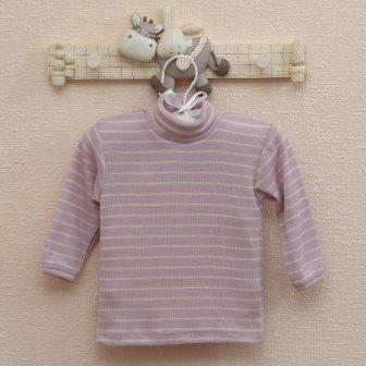 Polotröja rosa/vit
